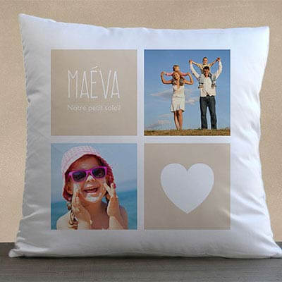 Coussin personnalis�